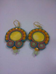 Orecchini Modello Mexico Mexico earrings  Soutache #Tania De Trizio @detrizio