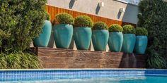 Vaso Vietnamita: +68 Modelos Grandes e Lindos Para Usar na Decoração Garden Makeover, Plantar, Planter Pots, Daisy, Yard, Landscape, Green, Pintura Patina, Tiffany