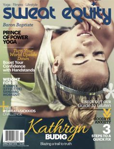 Kathryn Budig on the cover of Sweat Equity.