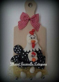 Porta chiave in porcellana fredda creazione Maria Coccinella