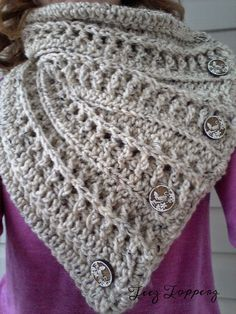 Teez Topperz: Textured Button Cowl: Free Pattern...