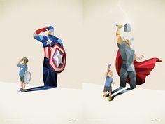 Creative Illustration of childhood imagination by Jason Ratliff | 99inspiration
