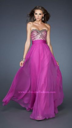 { 18897 | La Femme Fashion 2013 } La Femme Prom Dresses - Sequined Bodice - Sweetheart Strapless - Corset Look