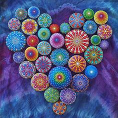 "Love Rocks Mandala Stone Collection by Elspeth McLean"" by Elspeth ..."