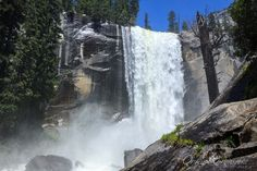 "Among Yosemite National Park's iconic sights that can be hiked without an overnight is Vernal Fall. The 2.4-mile round trip Mist Trail leads to the 317-foot Yosemite Valley waterfall. Learn more about this and other great trails in ""Best Sights to See at America's National Parks"": http://www.amazon.com/Sights-Americas-National-Parks-Hittin-ebook/dp/B018W7Y288"