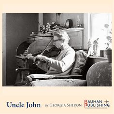 Uncle John tuning his violin.
