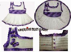Häkelkleid für kleine Mädchen. Babykleid kostenlose Anleitung. Baby Crochet free pattern