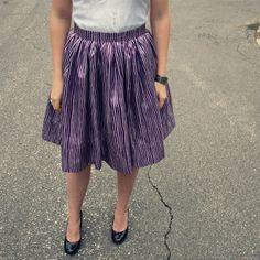 Elemental Carbon: Very Gathered Skirt // DIY