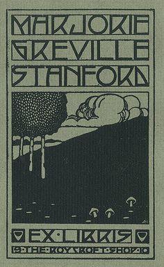 Bookplate of Marjorie Greville Stanford