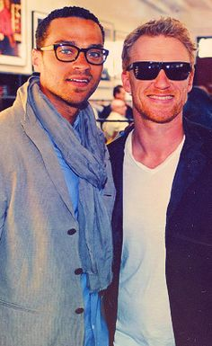 Jesse Williams and Kevin McKidd, I wish to marry both but mostly Owen Hunt!
