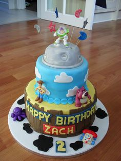 """Toy Story Cake by """"She Makes Cakes"""", via Flickr"""