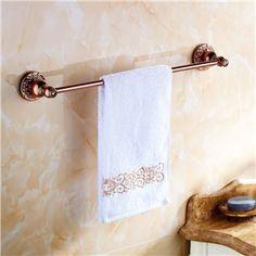 European Country Bathroom Accessories Towel Rack Rosy Gold Towel Bar