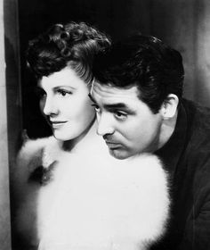 """Jean Arthur and Cary Grant in """"The Talk of the Town"""", (1942)"""