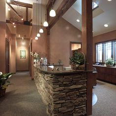 reception desk wood and stone | Reception Desk | Flickr - Photo Sharing!