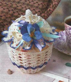 Handmade-kursy ,wzory ,tutoriale: Szydełkowe wazony,koszyki ,miski i świeczniki