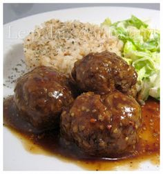 Meatball Recipes, Meat Recipes, Low Carb Recipes, Yummy Recipes, Demi Glaze Sauce, Minced Meat Recipe, How To Cook Beef, Canadian Food, Viria