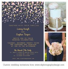 weddinginspiration_gold and blush polkadot_navy back