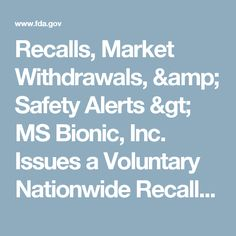 Recalls, Market Withdrawals, & Safety Alerts > MS Bionic, Inc. Issues a Voluntary Nationwide Recall of All Lots of Megajex Natural Male Sex Enhancer Dietary Supplement