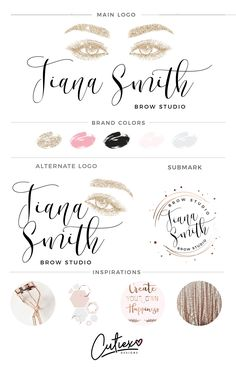 Eyelashes Branding Kit Logo | Eyebrow Branding Logo | Glitter Branding Kit | Makeup Logo | Fancy Logo | Makeup Artist Logo by CutiexoTreasures on Etsy https://www.etsy.com/listing/541891966/eyelashes-branding-kit-logo-eyebrow