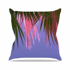 KESS InHouse AB2050AOP03 18 x 18-Inch 'Ann Barnes Neon Jungle Purple Green' Outdoor Throw Cushion - Multi-Colour *** You can find out more details at the link of the image. #GardenFurnitureandAccessories