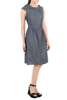 This is the cutest vintage dress I've found.  I love that eShakti will customize this dress too!! :)  I <3 this Vintage denim chambray dress from eShakti