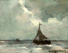 Hendrik Johannes 'JH' Weissenbruchstraat (1824-1903)Bomschuit op zee.