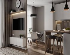 3 Key Home Maintenance Jobs You Don't Want to Forget - shoproomideas Open Plan Apartment, Small Apartment Interior, Small Space Interior Design, Home Room Design, Decor Interior Design, Living Room Designs, Living Room Decor, Modern Small Apartment Design, Small Open Plan Kitchens