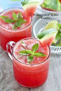 This super refreshing Watermelon Lime Cooler is a great way to beat the heat on hot summer days. Seltzer or club soda and lime make it sparkle.   RotiNRice.com