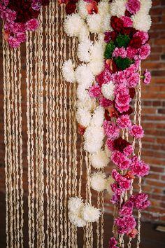ceremony backdrop, photo by Cluney Photo http://ruffledblog.com/cinco-de-mayo-wedding-inspiration-with-macrame #weddingideas #ceremonies #backdrops