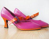 B L A S T - Pink and orange vintage shoes