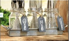 Great way to display cutlery.