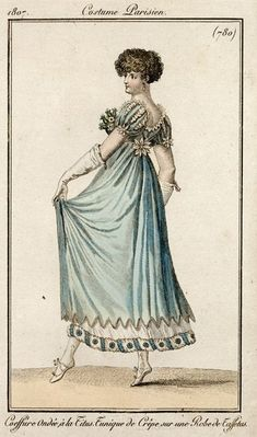 Fashion plate, 1807, France.