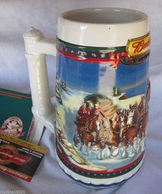 MIB 2002 Budweiser Holiday Guiding the Way Home Stein with Box *