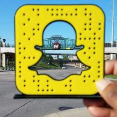 Oh Snap! Add #RT66Run on #snapchat or scan this code. #Route66marathon