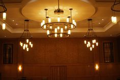 Hanging lights have been used since time in memorial to compliment the interior décor of a room. A great example is the chandelier that often hangs over a dining table, which was common in British castles.