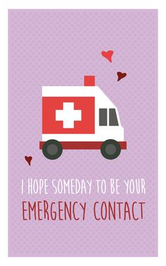 """I hope someday to be your emergency contact"" - Funny medical valentine card for nurses doctors hospitals. Funny Couples Memes, Couple Memes, Funny Memes, Memes Humor, Ecards Humor, Funny Valentines Day Quotes, Valentine Day Cards, Nerdy Valentines, Hospital Memes"