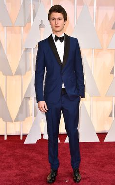 Ansel Elgort in Prada at the Academy Awards 2015 | #2015Oscars #redcarpet #bestdressed