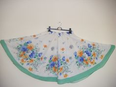 How to recycle a table cloth into a skirt. How To Make A Full Circle Skirt From A Tablecloth! By Minnie Burton - Step 8