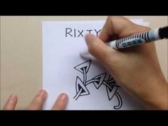How to draw the Zentangle® Pattern RIXTY - YouTube