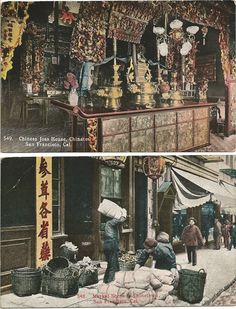 Two early 1900's San Francisco Chinatown postcards.
