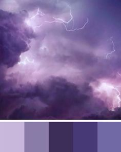Purple sky color palette