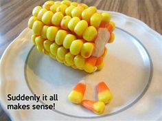 Marshmallows and candy corn fun snacks for the fall.