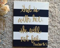 cool Hand Lettering Bible Verse Canvas Painting Canvas Wall Hanging Sign Gray Striped Gold Calligraphy Typography Wall Art Wall Decor Home Decor Bible Verse Canvas, Canvas Quotes, Wall Art Quotes, Bible Verses, Painting Quotes, Quote Wall, Wall Décor, Sign Quotes, Scriptures