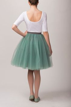 Mint tulle skirt by Fanfaronada