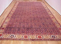 "Persian: Floral 23' 4"" x 11' 2"" Antique Bidjar at Persian Gallery New York - Antique Decorative Carpets & Period Tapestries"