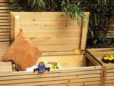 mobilier jardin banc de jardin pratique bois espace de stockage placard