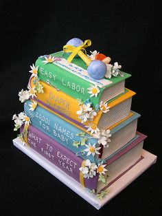 17 Beautiful Baby Shower Cakes To Lust Over Fancy Cakes, Cute Cakes, Awesome Cakes, Dreamsicle Cake Recipe, Open Book Cakes, Unique Baby Shower Cakes, Carousel Cake, Fantasy Cake, Beautiful Baby Shower
