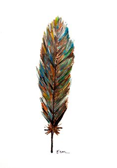Catchii illustration, drawing, feather, colourfull