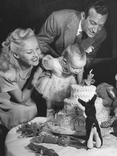 Betty Grable and Harry James with daughter Victoria.