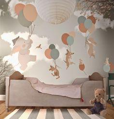 Animais voando em balões é o tema deste papel de parede. | Fonte…